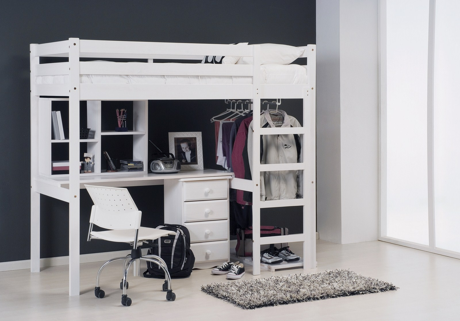 le lit mezzanine pratique et ludique la fois au bon sommeil. Black Bedroom Furniture Sets. Home Design Ideas